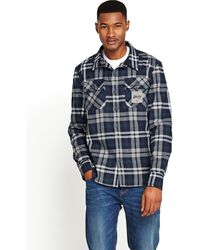 Superdry  Milled Flannel Check Shirt - Lyst