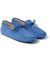 Tod's Gommino Suede Driving Shoes - Lyst