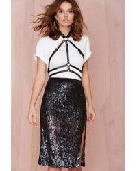 Nasty Gal Joa Rebecca Sequin Skirt - Lyst
