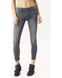 Mother Looker Ankle Fray Skinny - Lyst