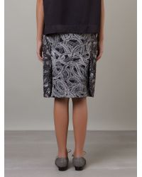Fernanda Yamamoto - Rope Print Pencil Skirt - Lyst