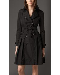 Burberry Skirted Trench Coat - Lyst