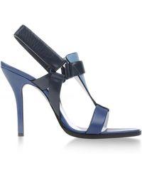 Jil Sander Highheeled Sandals blue - Lyst