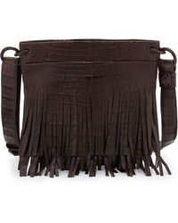 Nancy Gonzalez - Crocodile Fringe Crossbody Bag - Lyst