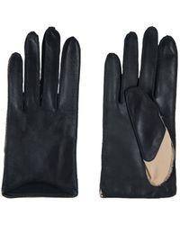 Amanda Wakeley Short Bicolour Leather Gloves - Lyst