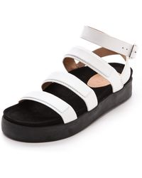 L.A.M.B. - Rose Flat Sandals  - Lyst