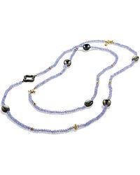 David Yurman Dy Signature Bead Necklace  - Lyst