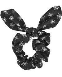 Topshop Glitter Snowflake Scrunchie - Lyst