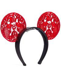 Piers Atkinson Oriental Lasercut Acetate Ear Headband red - Lyst