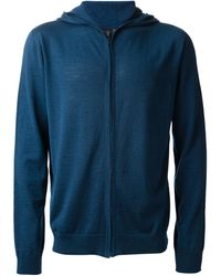 Calvin Klein Blue Knit Cardigan - Lyst