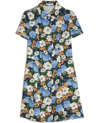 Carven | Floral Shirt Dress | Lyst