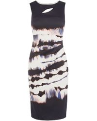 Karen Millen Tie Dye Stripe Dress - Lyst