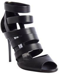 Jimmy Choo Black Caged Leather 'Dame' Sandals - Lyst
