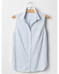 Gap Sleeveless Floral Shirt - Lyst