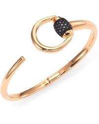 Gucci   Horsebit 0.25tcw Diamond & 18k Pink Gold Cuff Bracelet   Lyst