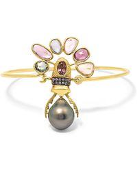 Daniela Villegas | 18-karat Gold Multi-stone Bracelet | Lyst