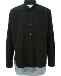 Comme Des Garçons Ribbed Classic Shirt - Lyst