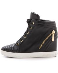 Pierre Balmain Wedge Sneakers  Black - Lyst