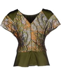 Alberta Ferretti Blouse green - Lyst