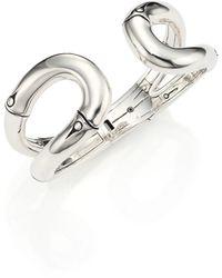 John Hardy   Bamboo Sterling Silver Cuff Bracelet   Lyst