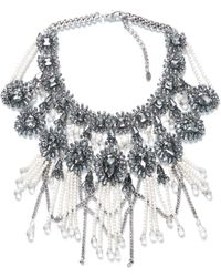 Zara Fringe and Chain Necklace - Lyst