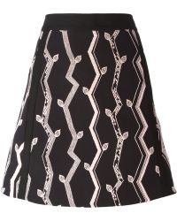 3.1 Phillip Lim Branch Embroidered Skirt - Lyst