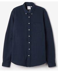 Schnayderman's Long Sleeve Jersey Shirt Dark Blue blue - Lyst