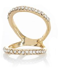 River Island Gold Tone Encrusted Knuckle Ring - Lyst