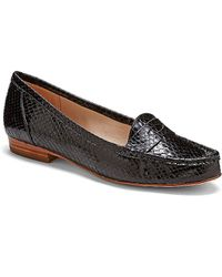 Vince Camuto Louise Et Cie Bitsy - Embossed Metallic Penny Loafer Flats - Lyst