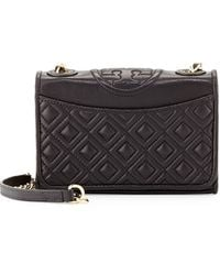 Tory Burch Fleming Quilted Leather Mini Bag - Lyst