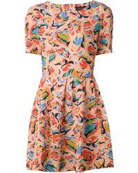 Saloni Printed Dress multicolor - Lyst