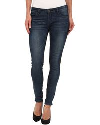 Blank Two-Tone Spray-On Skinny In Blue & Black - Lyst