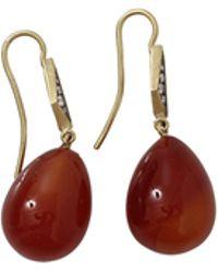 Sylva & Cie - Red Agate Drop Earrings - Lyst