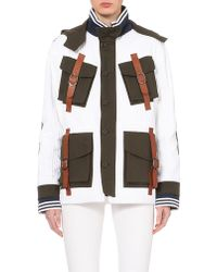 Rodarte Corduroy And Canvas Jacket - For Women white - Lyst