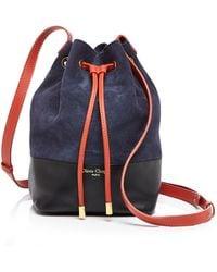 Olivia Clergue - Adriana Suede Color Block Medium Bucket Bag - Lyst
