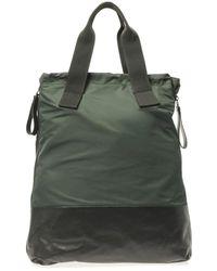 Lanvin - Nylon And Calf-Leather Shopper Bag - Lyst