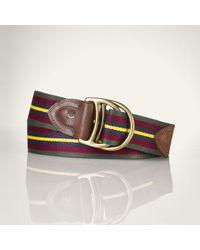 Polo Ralph Lauren Equestrian Webbed Belt - Lyst