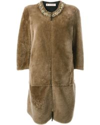 Marni Embellished Coat - Lyst