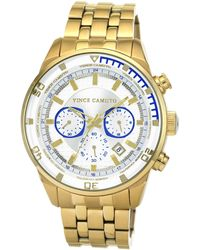 Vince Camuto - Men'S Gold-Tone Stainless Steel Bracelet Watch 45Mm Vc-1044Wtgp - Lyst