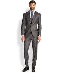 Brunello Cucinelli Solid Gabardine Wool Suit - Lyst