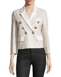 Versace | Three-quarter Sleeve Embellished Jacket | Lyst