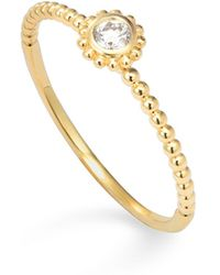 Lagos - 18k Gold And Diamond Stackable Ring - Lyst
