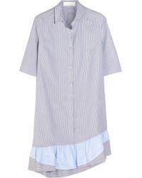 Thakoon Addition - Addition Striped Stretch-Cotton Dress - Lyst