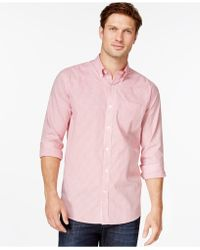 Cutter & Buck - Big And Tall Men's Tattersall Button-down Shirt - Lyst