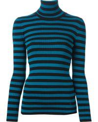 Gucci Blue Knit Sweater - Lyst