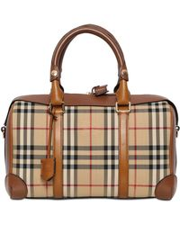 Burberry Medium Alchester Bridle House Check Bag - Lyst