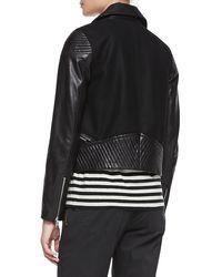 Marc By Marc Jacobs Karlie Leathercrepe Moto Jacket - Lyst