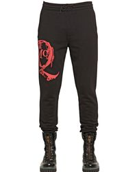 McQ by Alexander McQueen Mcq Logo Printed Cotton Jogging Trousers - Lyst