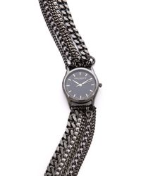 Sara Designs - All Chain Wrap Watch - Gunmetal - Lyst