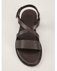 Aspesi - Open Toe Sandals - Lyst